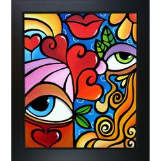 ArtistBe Tom Fedro 'Bubbles' Framed Fine Art Print on