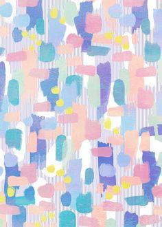 watercolor pattern Art Print by Marta Olga Klara - X-Small Boho Pattern, Pastel Pattern, Pattern Art, Abstract Pattern, Colour Pattern, Free Pattern, Design Textile, Design Floral, Textile Prints