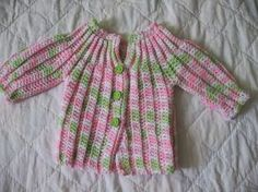 Cat's One Piece  Wonder, Baby Sweater/Cardigan 3 to 6 months     Below, 2 tone, free pattern here for one piece sweater  0 to 3 month...