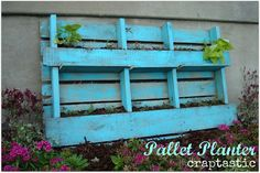 Pallet planter pallet idea, craptast, yard, pallet planter, outdoor, garden idea, planters, pallets, planter reveal