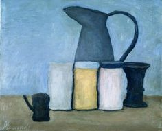 Giorgio Morandi – was an Italian painter and printmaker who specialized in still life. His paintings are noted for their tonal subtlety in depicting apparently simple subjects, which were limited mainly to vases, bottles, bowls, flowers and landscapes. Painting Still Life, Still Life Art, Italian Painters, Italian Artist, Illustrations, Illustration Art, Modern Art, Contemporary Art, Simple Subject