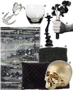 8 Spooky-Chic Halloween Decor Accents for Your Home featuring nuLOOM's Hand Tufted Vertigo Area Rug