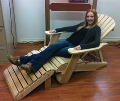 Relax in your outdoor space with a adjustable reclining Adirondack Chair from DFC Woodworks. See our chairs & specifications online or call Adirondack Chair Plans, Adirondack Furniture, Outdoor Furniture, Wooden Chair Plans, Chair Design Wooden, Recycled Plastic Adirondack Chairs, Beach Furniture, Woodworking Furniture Plans, Foot Rest