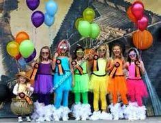 Rainbow group costume