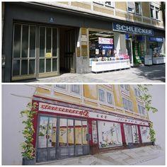 Vorderansicht Geschäftshaus - vorher - nachher  Business- Feng Shui made by www.apprico.de #fengshui #businessfengshui