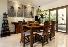 The artwork ties in the Balinese inspired interior - Residence @ West Coast Way