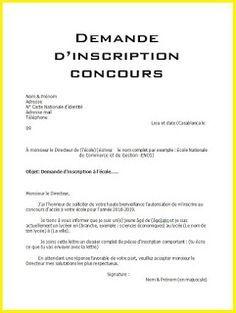 Lettre Demande D Inscription Au Concours D Une Ecole Word Doc Words Let It Be