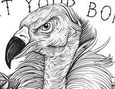 Consultez ce projet @Behance: \u201cPoster Vulture Terror\u201d https://www.behance.net/gallery/6435873/Poster-Vulture-Terror