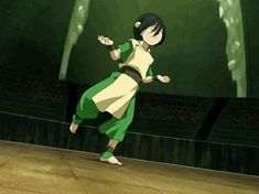 Such an incredible introduction of a new character. This scene is what made me love Toph right out the gate.