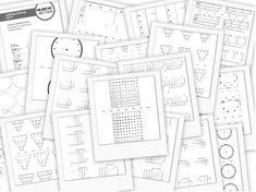 Šablony k Hejného matematice ke stažení zdarma Diagram, Bullet Journal, Math, Homeschooling, Math Resources, Early Math, Homeschool, Mathematics