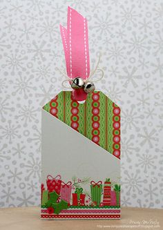 25 Days of Christmas Tags - Day 19 Cute Christmas Gifts, 25 Days Of Christmas, Christmas Paper Crafts, Holiday Gift Tags, Homemade Christmas Gifts, Christmas Ideas, Paper Tags, Paper Gifts, Hand Made Greeting Cards