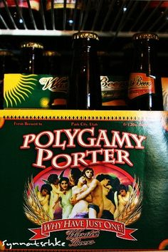 Polygamy Porter Beer -Park City Utah  Wasatch Brew Pub
