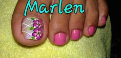 Pedicure Designs, Toe Nail Designs, Cute Pedicures, Feet Nails, Toe Nail Art, Tattoos, Pretty Pedicures, Nail Art Designs, Nice Nails