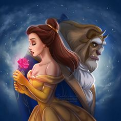 Beauty and the Beast: animated version based on the movie poster from 2017.Happy Valentine's day! ;] (Even if main characters from the picture looks sad!) My other Disney Arts areHERE +++ My&...