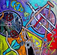 Anatomy of a Bicycle by Robert Rauschenberg 🚲💨 ✔ Bicycle Drawing, Bicycle Tattoo, Bike Illustration, Bicycle Print, Bike Poster, Robert Rauschenberg, Cycling Art, Bike Art, Bike Design