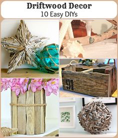Driftwood Decor: 10 Easy DIYs #driftwooddiys #coastaldecor #nauticaldecor #coastaldiy #beachcrafts