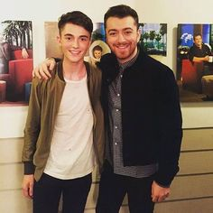 Sam Smith and Greyson Chance today at @theellenshow. On Friday Nov. 6 Sam will be on the show talking about what's new and upcoming in his musical career. Don't miss it.