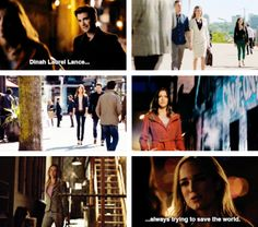 """""""Dinah Laurel Lance always trying to save the world."""" #1.1 #3.1 #Arrow"""