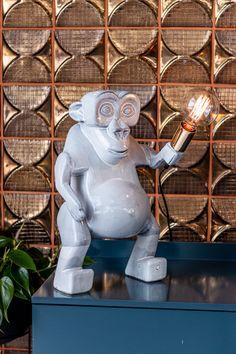 Rialheim Standing Evolution Man in Sky Gray – Ceramic Tile Art, Wall Tiles, Ceramic Table Lamps, Ceramic Design, Beautiful Lights, Evolution, Lion Sculpture, Concept, Sky