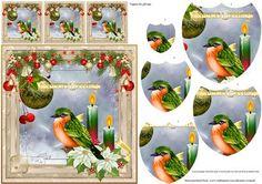 Season s Greetings pyramage card on Craftsuprint - Add To Basket!