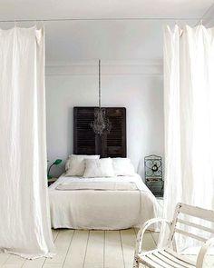 Chambre blanche et simple