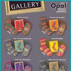 Opal Sock Yarn Gallery. A new gallery of self-patterning sock yarn from Opal!