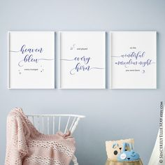 Heaven Blew Every Trumpet wall art poster #boynurserydecor #boynurseryart #navyblue #heaven #boynursery #navybluebedroom #navybluedecor #nurseryroomdecor  Navy Blue Decor, Navy Blue Walls, Blue Wall Decor, Nursery Poem, Nursery Room Decor, Nursery Wall Art, Baby Boy Nurseries, Baby Boy Newborn, Gifts For Family