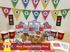 Race themed birthday party #printables for kids who love race cars! From mrpartyideas.com.