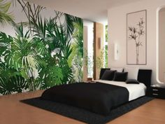 Motif non-woven paper wallpaper JUNGLE MULTILES Collection by LGD01