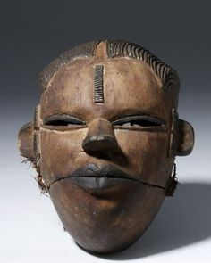 African Ibibio Dance Mask With Articulated Mouth
