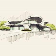 Architecture Student Portfolio, Architecture Concept Drawings, Architecture Sketchbook, School Architecture, Architecture Details, Interior Architecture, Building Sketch, Building Design, Sketches Arquitectura