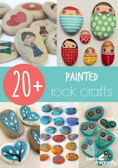 20+ Painted Rock Crafts                                                                                                                                                      More
