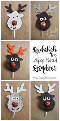 Cutest school class Christmas gift idea Rudolph the Lollipop-Nosed Reindeer!