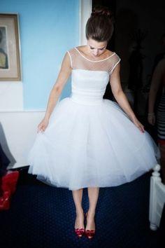 Polkadot wedding dress