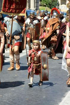 May 2013 - Little gladiators start training early! Rome Lazio...how adorable is he!
