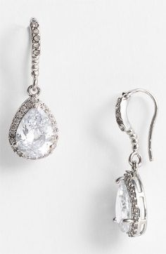 Nina 'Gale' Teardrop Earrings available at #Nordstromweddings