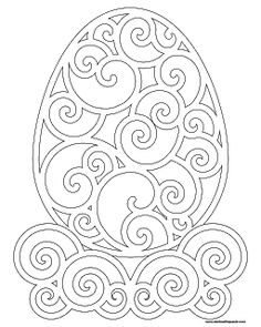Easter coloring page- filigree egg