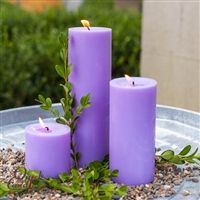 Lavender Pillar Candles - Bring some color into your home or space with this lovely lavender color candle. Sold in sets of 3 or more but you can also purchase just one! Purple Candles, White Candles, Pillar Candles, Candle Molds, Candle Wax, Candle Making Supplies, Corgi Funny, Linen Spray, Lavender Color