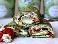 Špenátovo-pohankové palačinky s fetou a sušenými rajčaty | Cooking with Šůša