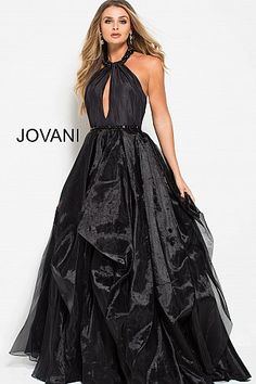 33625ad6271 Black High Neck Backless Evening Ballgown 54524  RuchedDress  PromDress   Jovani Grad Dresses