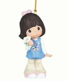 $24.99-$25.00 Girl Scout Daisies Care Hanging Ornament. The youngest of the Girl Scouts, Daisies discover many ways to show they care through the Scouting Program.  Show a Sweet Daisy how proud you are of them by giving them this cute and colorful ornament. Bisque porcelain.