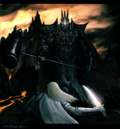 Battle between Fingolfin and Morgoth