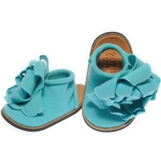 Supermarket - Zuzii Joli Petal Shoe - Aqua from Zuzii Footwear and Accessories from Supermarket. Saved to Baby oh baby! Baby Girl Shoes, Girls Shoes, Cute Babies, Baby Kids, Baby Baby, Fashion Shoes, Kids Fashion, Fashion Models, Aqua Shoes