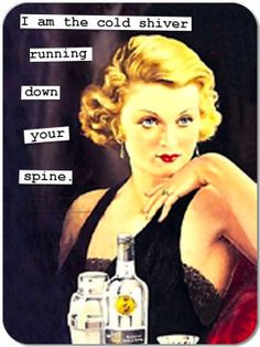 Funny Retro Magnet 95: cold shiver running down your spine