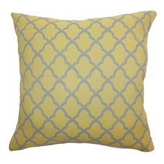 Down-filled cotton pillow.Product: PillowConstruction Material: Cotton cover and 95/5 down fillColor: ...