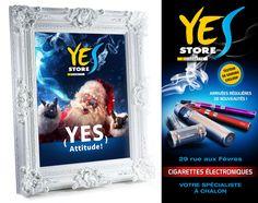 Affiche Flyer - Yes Store Chalon - ZONALPHA   Studio de création Cigarettes Électroniques, Stores, Studio, Creations, Yes, Cover, Illustration, Event Posters, Studios