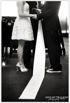 No flowers, no cake, no joke: this a chic and funky do! This couple surrounded themselves with art, friends, and some amazing DIY projects and some cheap-and-chic centerpieces. Wedding Readings, Wedding Ceremony, Reception, Art Gallery Wedding, Wedding Photos, Origami Wedding, Unity Ceremony, Offbeat Bride, Hopeless Romantic