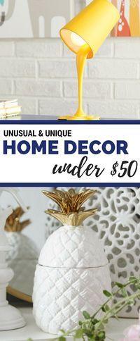 Unique Home Decor Ideas Under $50