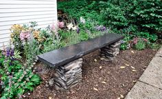 The bench sits between the shed and patio I worked on 30 years ago.   - PopularMechanics.com