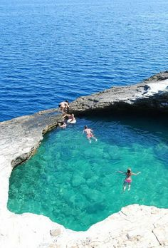 Giola Lagoon, a natural pool on Thassos, Greece.